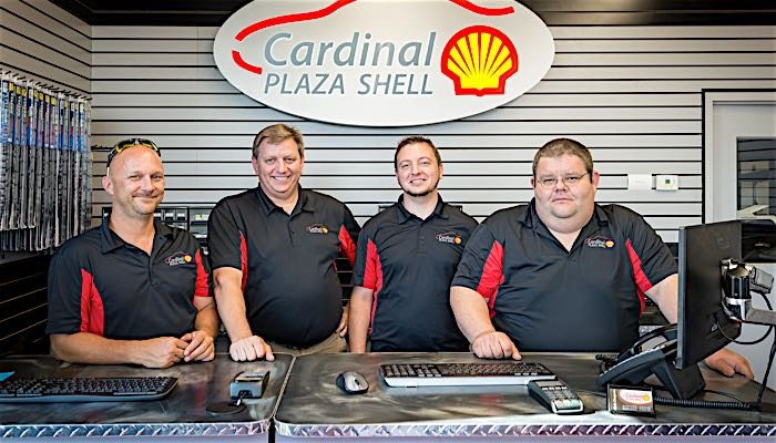 cardinal plaza shell staff