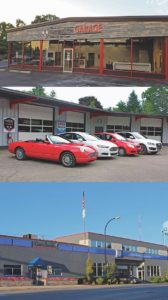 From top: Farmington Garage, Farmington, MI; Hamburg Garage, Whitmore Lake, MI; Curt's Service, Oak Park, MI (click to enlarge)